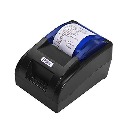 Aibecy USB Stampante termica 58mm per ricevute Biglietto Bill Wired Stampa Supporto Cassetto contanti Compatibile con ESC / POS per Windows / Linux / Sistemi Android per Supermercato Negozio