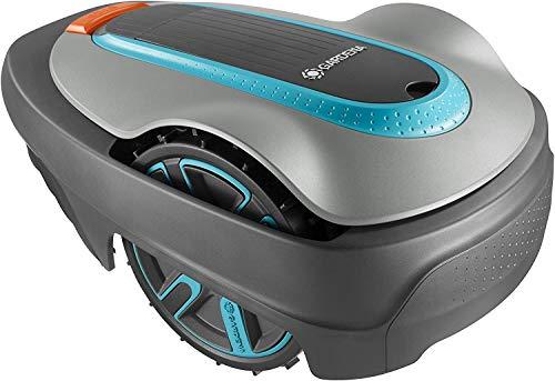 GARDENA SILENO city 300: Robot tondeuse surf. tonte jusq. 300m², montées jusq. 35%, hauteur de coupe 20-50mm, écran LCD, prot. antivol, câble de délimitation, crochet et connect. (15005-47) incl.