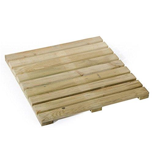 VERDELOOK Mattonella in Legno impregnato per pavimentazione da Esterni, 50x50 cm, 1.5 kg
