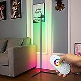 DENGALA Corner Floor Lamp RGB Color Changing Minimalist Corner Lamp 56' Modern Style Decor Tall Lamp...