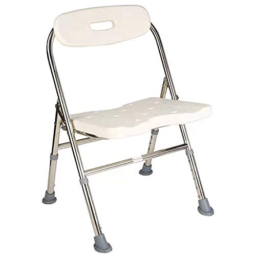 Elderly Assis One-Piece Shower Chair Drive Medical Premium Series Shower Chair with Back Adjustable Bath Chair for Seniors Disabled Injured Pregnant Woman White Supports Up to 330 Lbs