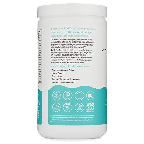 Girl & The Sea 100% Pure Marine Collagen Powder, Hydrolyzed Fish Collagen Peptides, for Skin, Hair, Nails, Bones & Joints, Wild-Caught, Non-GMO, Unflavored, Environmentally Sustainable 4