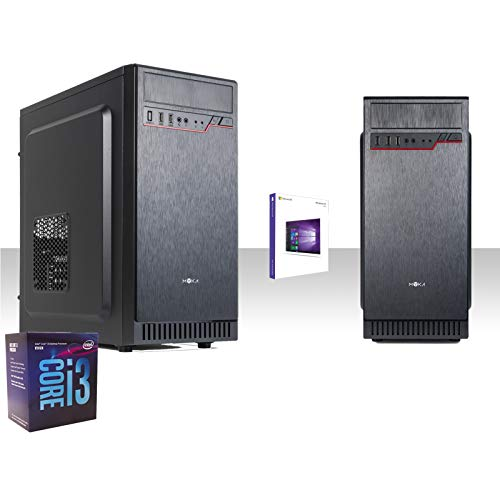 Pc desktop completo intel i3-8100 3,6ghz 8°gen/windows 10 pro 64 bit/grafica intel hd 630 1gb 4k/wifi 150mbps/hd 1tb/ram 8gb ddr4 2666MHZ/masterizzatore dvd-cd/ufficio,lavoro