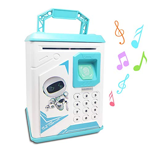 Lefree ATM Piggy Bank, Cartoon Coin Box, Mini Bank Gift for Kids, Smart Electronic Coin Bank, Safe with Password ATM Saving Bank,Free Stickers&Screwdriver