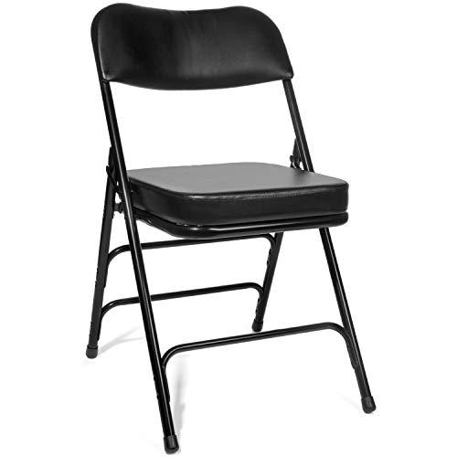 XL Series Vinyl Upholstered Folding Chair (2 Pack)...
