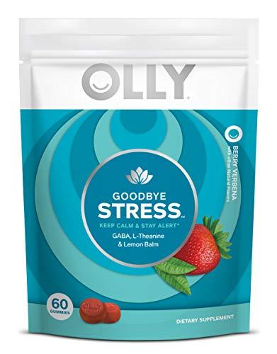 OLLY Goodbye Stress Gummy, 30 Day Supply (60 Gummies), Berry...