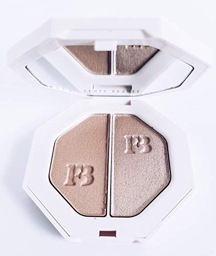 Weightless, long-wear cream-to-powder hybrid highlighters in solos and expertly paired duos. COLOR: Lightning Dust/Fire Crystal - soft pearlescent sheen / supercharged pearlescent shimmer SIZE 2 x 0.12 oz/ 3.5 g
