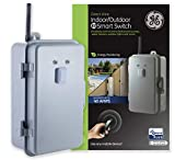GE Z-Wave Plus 40-Amp Indoor/Outdoor Metal Box Smart Switch, Direct Wire, 120-277VAC, for Pools, Pumps, Patio Lights, AC Units, Electric Water Heaters, Compatible with a Z-Wave Certified Hub 14285 , Gray
