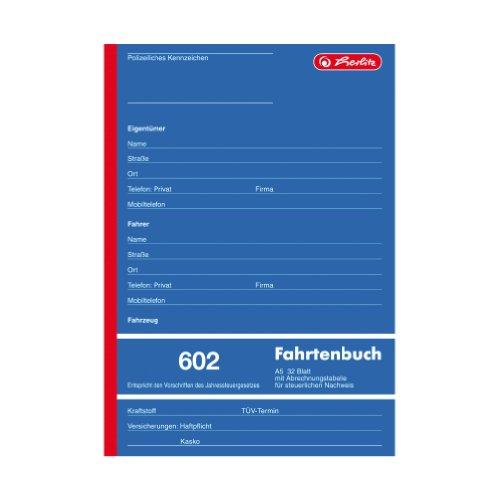Herlitz 840637 Fahrtenbuch A5 602 32 Blatt