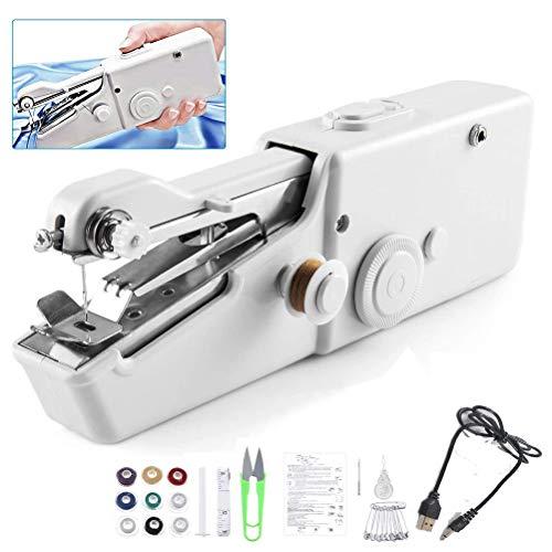 Odziezet Mini Macchina da Cucire Portatile Elettrica Set da Cucito Incluso Handheld Strumento di...