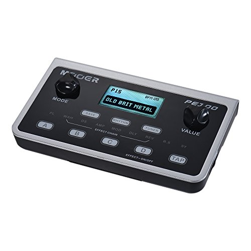 Bedler PE100 Portable Multi-effects Processor Guitar Effect Pedal 39 Effects 40 Drum Patterns 10 Metronomes Tap Tempo