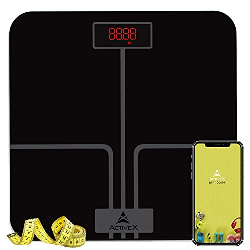 ActiveX (Australia) Ivy Plus, Digital Bathroom Scale For BMI Body Weight With Advanced Free...