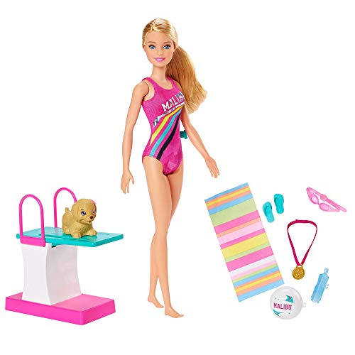Barbie GHK23 Dreamhouse Adventures Swim n Dive Doll and Accessories