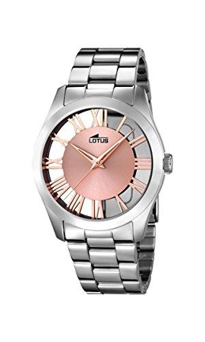 Lotus Damen Analog Quarz Uhr mit Edelstahl Armband 18122/1