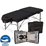 EARTHLITE Portable Massage Table Luna - 30' Wide, CFC Free Professional Foam, Weighs Only 29lbs, Patented, Strong Aluminum Reiki Frame (Working Weight 750lbs)