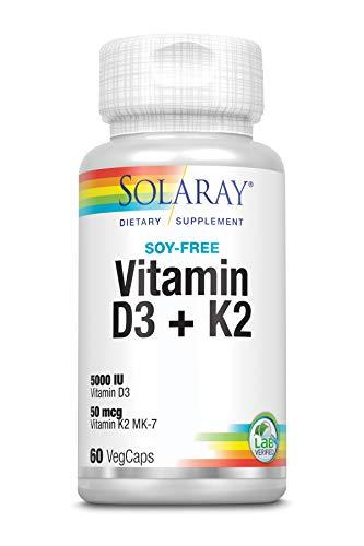 Solaray Vitamina D3 + K2 | Favorece la absorción de calcio y apoya al...