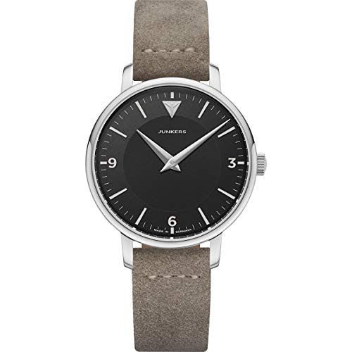 Junkers Therese Damen Analog Quarz Uhr Lederarmband Vintage schwarz 9.01.01.02