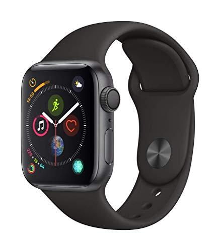 Apple Watch Series 4(GPSモデル)- 40mmスペースグレイアルミニウムケースとブラックスポーツバンド