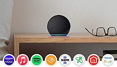 Meet the all-new Echo Dot - Our most popular smart speaker with Alexa. The sleek, compact design delivers crisp vocals and balanced bass for full sound. Voice control your entertainment - Stream songs from Amazon Music, Apple Music, Spotify, SiriusXM...