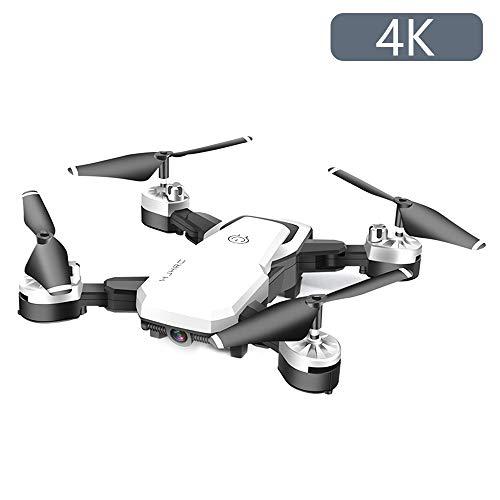 JTWEB Drone con Telecamera,Videocamera HD FPV, 24 Minuti di Volo Quadricottero RC Portatile,modalit Senza Testa a 4 Assi Altitudine One Key Ritorna 360 Flip (Bianco, 4K)