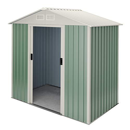 Hoggar by Okoru Caseta metálica 2,43 m2 201x121x176cm. Cobertizo Jardin