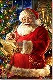 NO BRAND Punto de Cruz Diamante Bordado de Diamantes 5D DIY Diamante Pintura Navidad Santa Diamante Pintura Punto de Cruz Diamante de imitación Sin Marco 30x40cm WYLUWLI