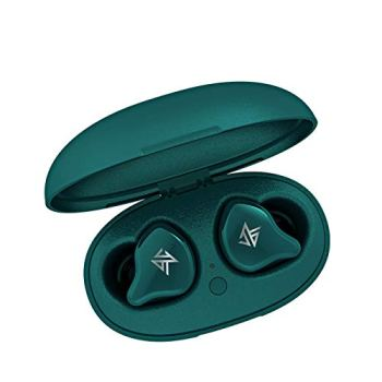 Linsoul KZ S1 1DD+1BA Hybrid TWS Bluetooth 5.0 Wireless Earphones with Smart Touch, Noise Cancelling (Green)