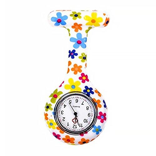 Grifri orologio al quarzo in silicone medico per infermieri, a batteria, spilla impermeabile, design...