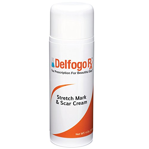 Delfogo Rx Stretch Mark & Scar Cream - Fortified with Vanistryl, Eyeliss, ESSENSKIN, SYN-COLL, and Hyaluronic Acid to Diminish Skin Damage and Discoloration