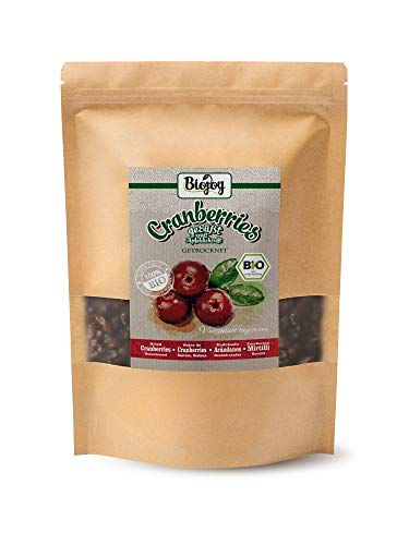 Biojoy BIO-Cranberries getrocknet, ohne Zucker, mit Apfelsaft gesüßt (1 kg)