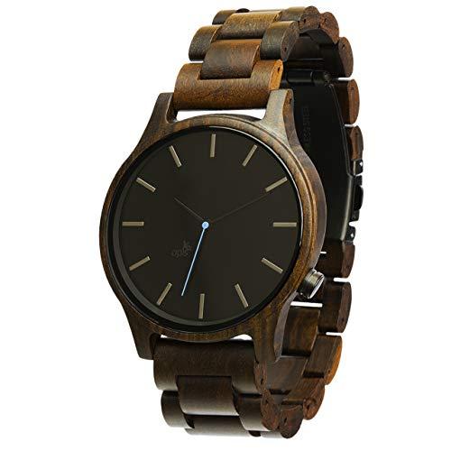 Opis UR-M1 (Schwarzes Sandelholz) Herren Armbanduhr/Holz Armbanduhr/Holzuhr für Männer