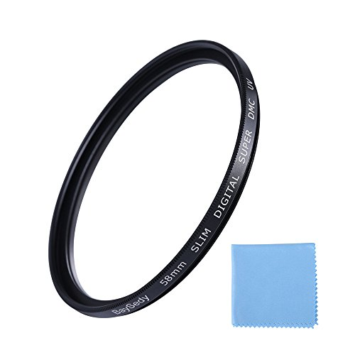 BaySedy カメラ用フィルター 58mm MC UV レンズフィルター 撥水 薄枠 レンズ保護用 58DMC-UV