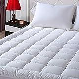 EASELAND Queen Size Mattress Pad Pillow Top Mattress Cover Quilted Fitted Mattress Protector Cotton Top 8-21' Deep Pocket Hypoallergenic Cooling Mattress Topper