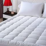 EASELAND Queen Size Mattress Pad Pillow Top Mattress Cover Quilted Fitted Mattress Protector Cotton Top 8-21' Deep Pocket Cooling Mattress Topper (60x80 Inches, White)