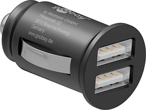 Goobay 44177 Dual Chargeur de voiture USB 2,1A Noir
