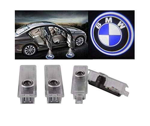 Luce per porta auto Logo Light,4 pezzi di luci per porte auto LED 3D Car Light Entry illuminazione...