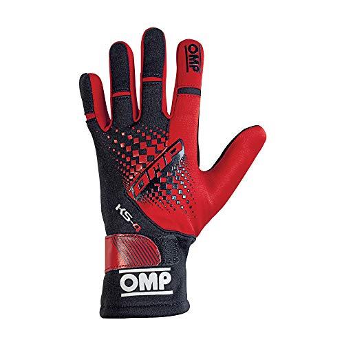 OMP OMPKK02744E060S Guantes, Rojo/Negro, S