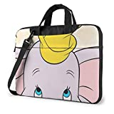 Bolsa para portátil de 15,6 Pulgadas Un pequeño maletín para portátil Dumbo Bolsa de Mensajero para Hombro Funda para Caja