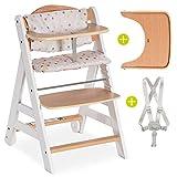 Hauck Beta Plus - Chaise Haute Bébé Évolutive Escalier avec Coussin assise,...