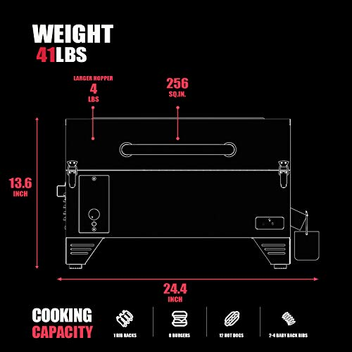 Product Image 2: ASMOKE Portable Wood Pellet Grill and Smoker with 40Lbs Pure Apple Wood Pellets, 8 in 1 <a href=