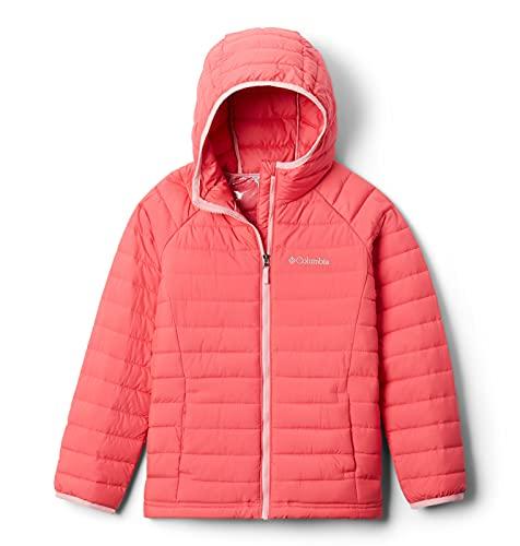 Columbia Toddler Girls Powder Lite Hooded Jacket, Bright Geranium, 2T