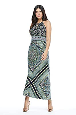 MACHINE WASH COLD WITH SIMILAR COLORS. GENTLE CYCLE. ONLY NON CHLORINE BLEACH WHEN NEEDED. TUMBLE DRY LOW. WARM IRON AS NEEDED Jersey 95% POLYESTER 5% SPANDEX Center Back Neck to Hem 53 3.4 inches Unlined, Keyhole Neckline, No Pockets, Sleeveless, No...