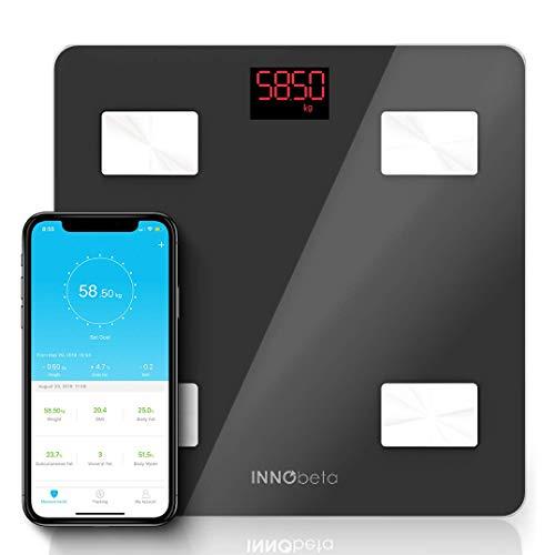 InnoBeta Fitfy Báscula Digital Inteligente con Bluetooth & App,...