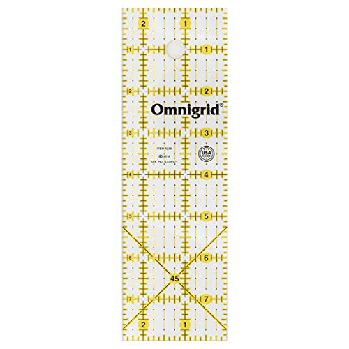 Omnigrid Ruler, 2-1/2 x 8-Inch, Clear
