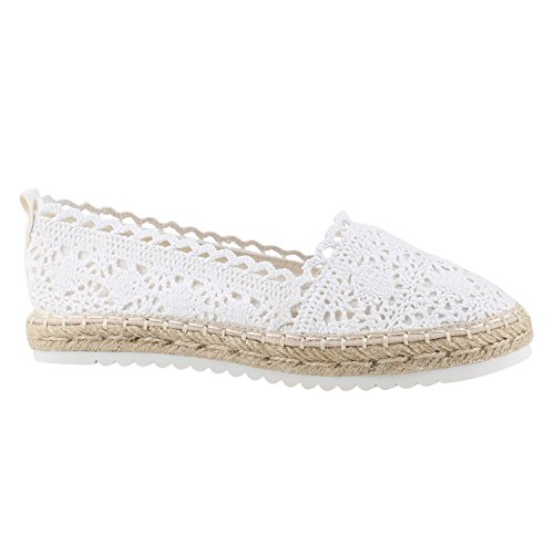 Stiefelparadies Mujer Alpargata 138963 Blanco 38 Flandell