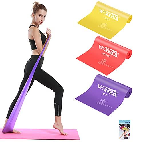 Elastici Fitness (Set di 3), Bande Elastiche Fitness con 3 Livelli di Resistenza, Fasce Elastiche fitness Ideale per Pilates, yoga, Riabilitazione, Allenamento di Forza e Flessibilit, Stretching