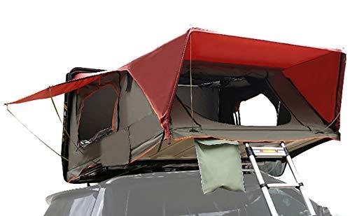 『CampGear正規品』ハードシェルタイプ最大4人まで泊まれるファミリールーフトップテント ハシゴを引くだけ...
