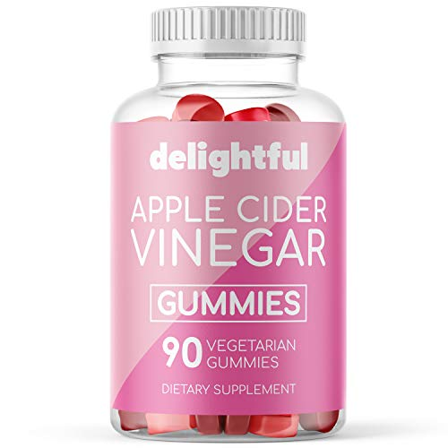 Organic Apple Cider Vinegar Gummies with The Mother - Gluten Free, Vegetarian ACV with Ginger Extract for Detox, Weight Loss, and Cleanse - 90 Count ACV Gummy Alternative to Pills, Capsules, Tablets 1