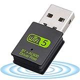 Adaptateur USB WiFi Bluetooth,Clé WiFi Double Bande 2.4/5.8 GHz 600Mbps Mini...