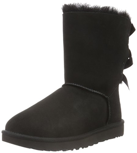 UGG Female Bailey Bow II Classic Boot, Black, 7 (UK)